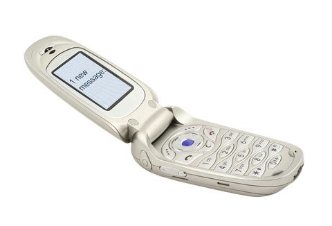 Mobile phone with one new message