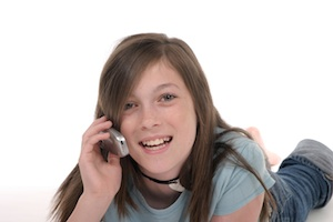 Young Teen Girl Talking On Cellphone 10