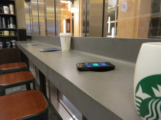 Starbucks Trial New Wireless Charging Mats This Christmas