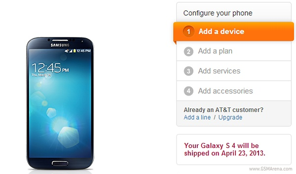 AT&amp;T Galaxy S4