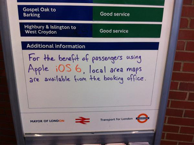 Apple Maps - London Train Station Finds The Funny Side