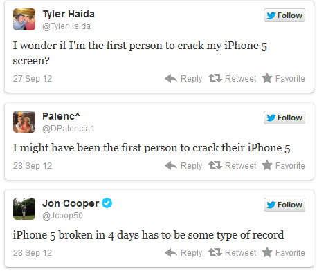 Broken iPhone 5 Reports Recorded On Twitter
