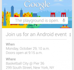 Google Android Event on 29th October (Confirmed)