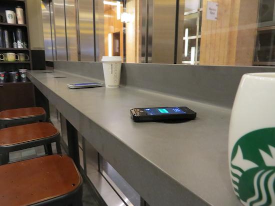 Starbucks Trial New Wireless Charging Mats This Christmas