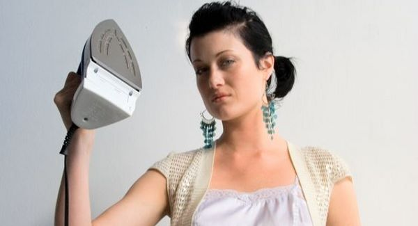 woman and iron