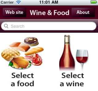 Gadget of the Week: Wine and Food App