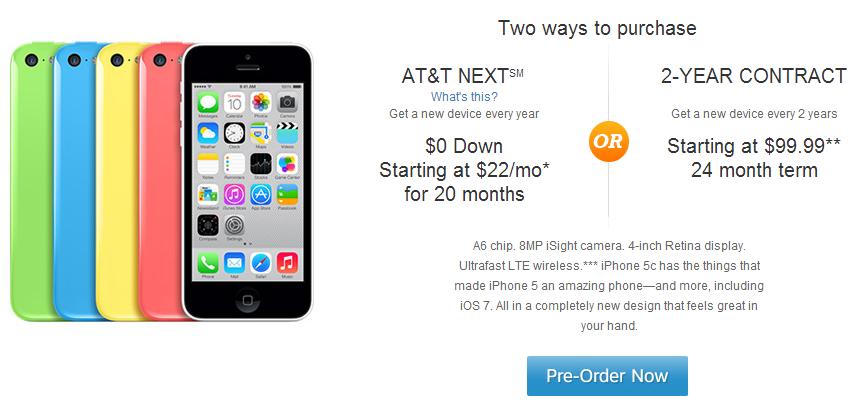 AT&T iPhone 5C