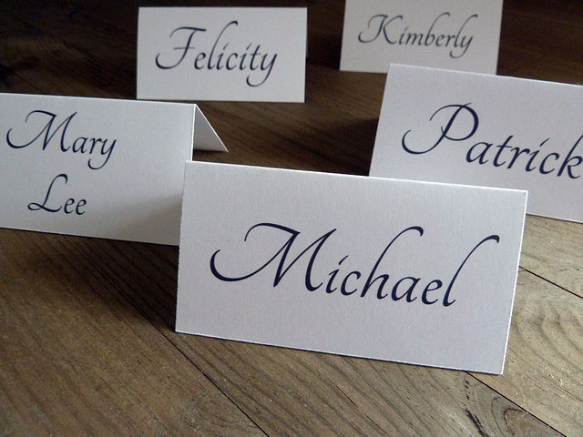 DIY Place Cards