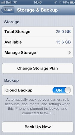 manage storage and backup