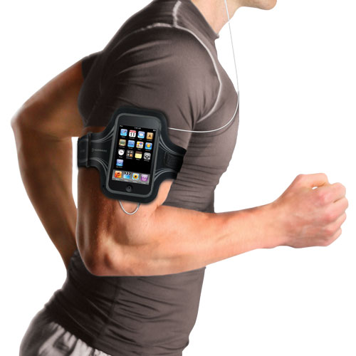 Runner with iPhone in Armband