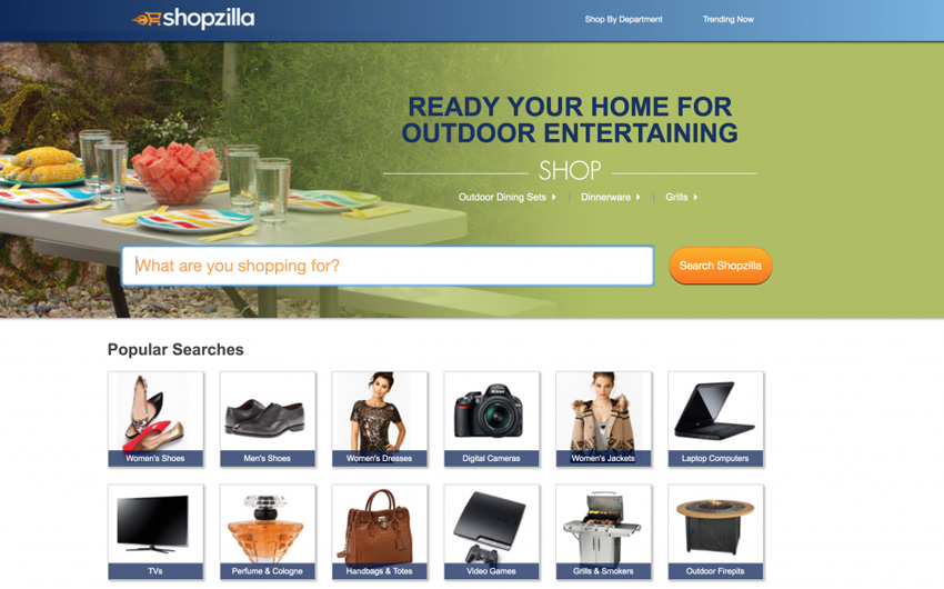 ShopZilla Comparison Site