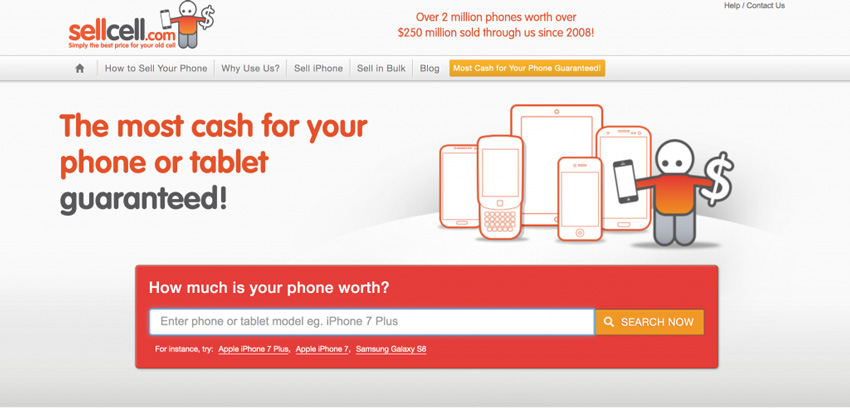 SellCell.com Mobile Phone Trade-In Comparison Site