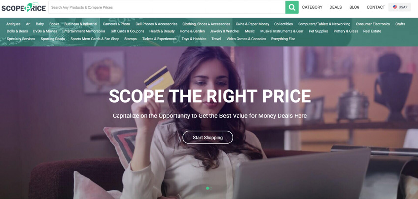 ScopePrice Price Comparison Site