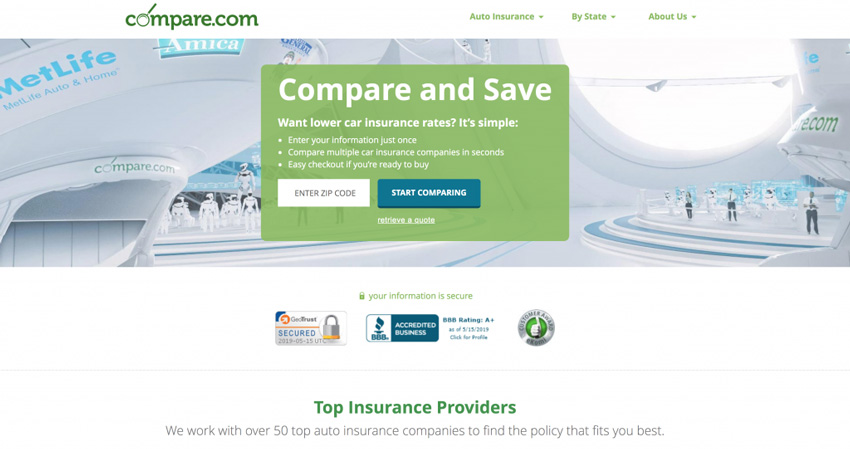 Compare.com Insurance Price Comparison Site