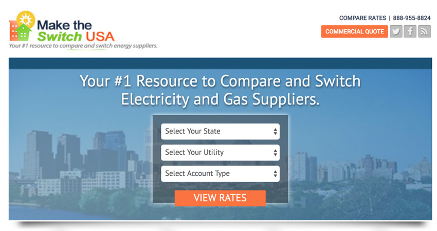 Make The Switch USA Energy Price Comparison