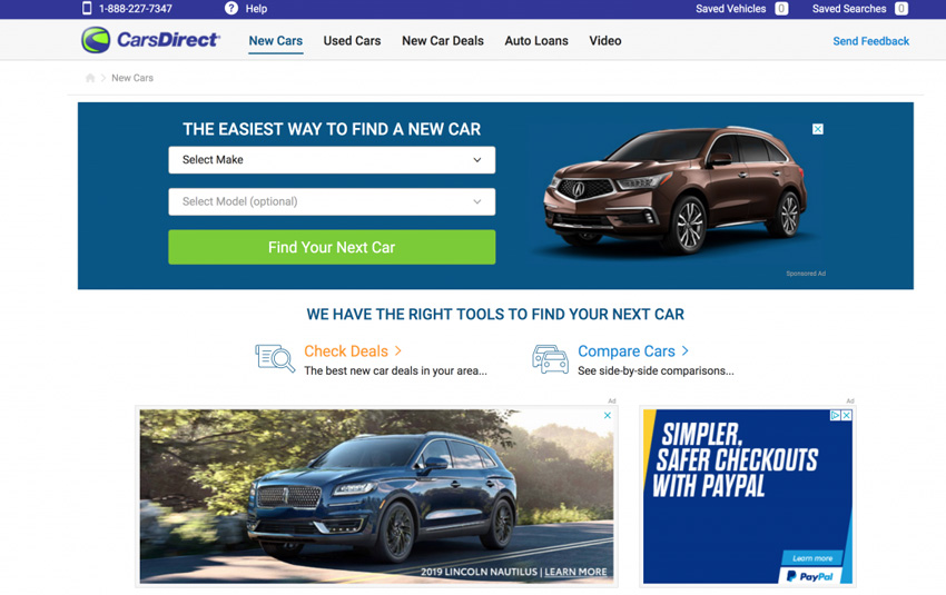 Cars Direct Comparison Site