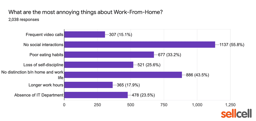 What are the most annoying things about Working From Home?