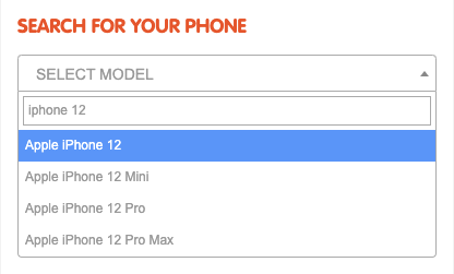 search for phone model